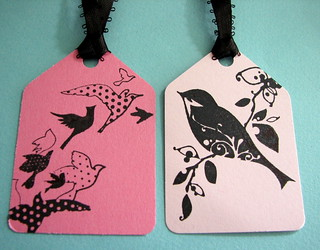 Stamped Bird gift tags | by glamourfae