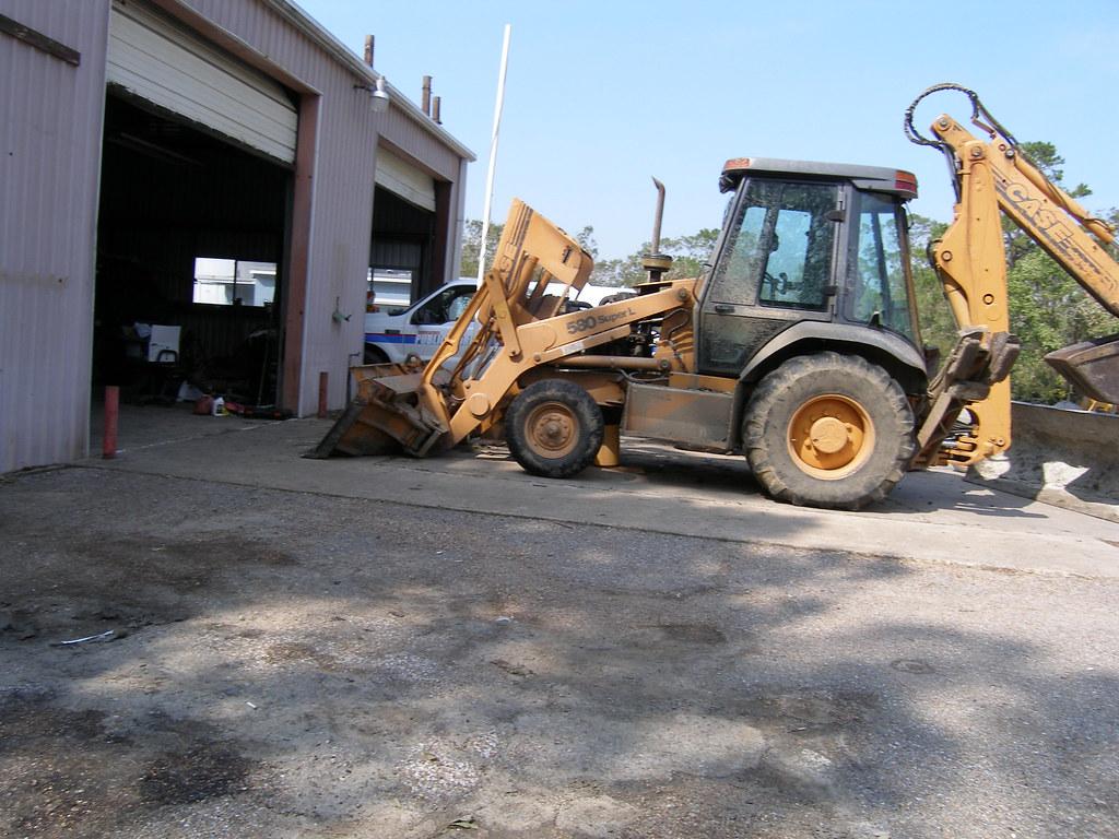 Case 580 Backhoe, Public Works Shop, Shoreacres, TX | Flickr