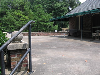 Patio of the Abe Goodman Club House | by gatesofmemphis