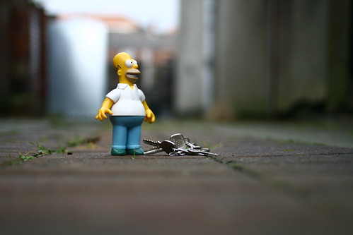 Homer finds a bunch of keys 340/365 | by harry.1967