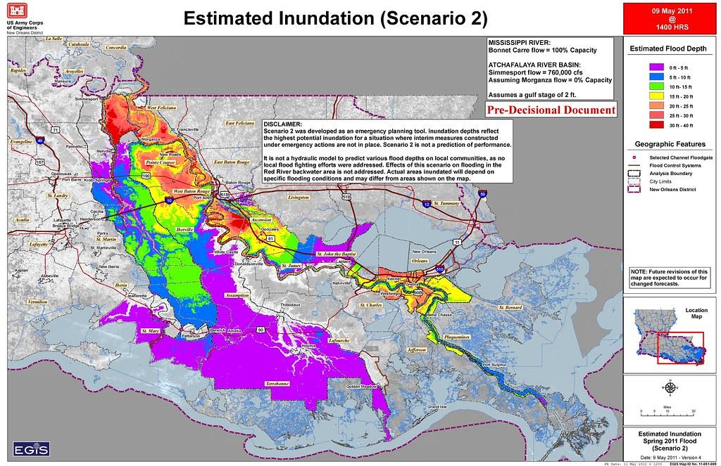 New Orleans District Inundation Map Scenario 2 | Estimated I… | Flickr
