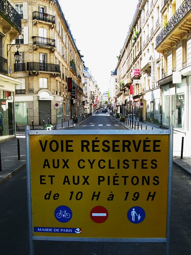 Paris Bike Culture - Bike and Pedestrians | by Mikael Colville-Andersen