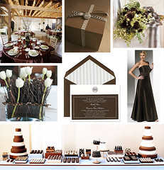 Wedding Wednesday - Brown and White Wedding | by Tastefully Entertaining
