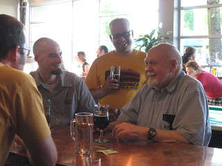 Christian, Gary Glass, Brian Butenschoen and Fred E. | by Oregon Brewers Guild