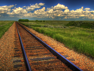 Blue Sky on Rails | by ecstaticist - evanleeson.com