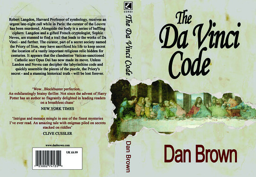 Book Cover Photography Zip Code : My the da vinci code book cover design for