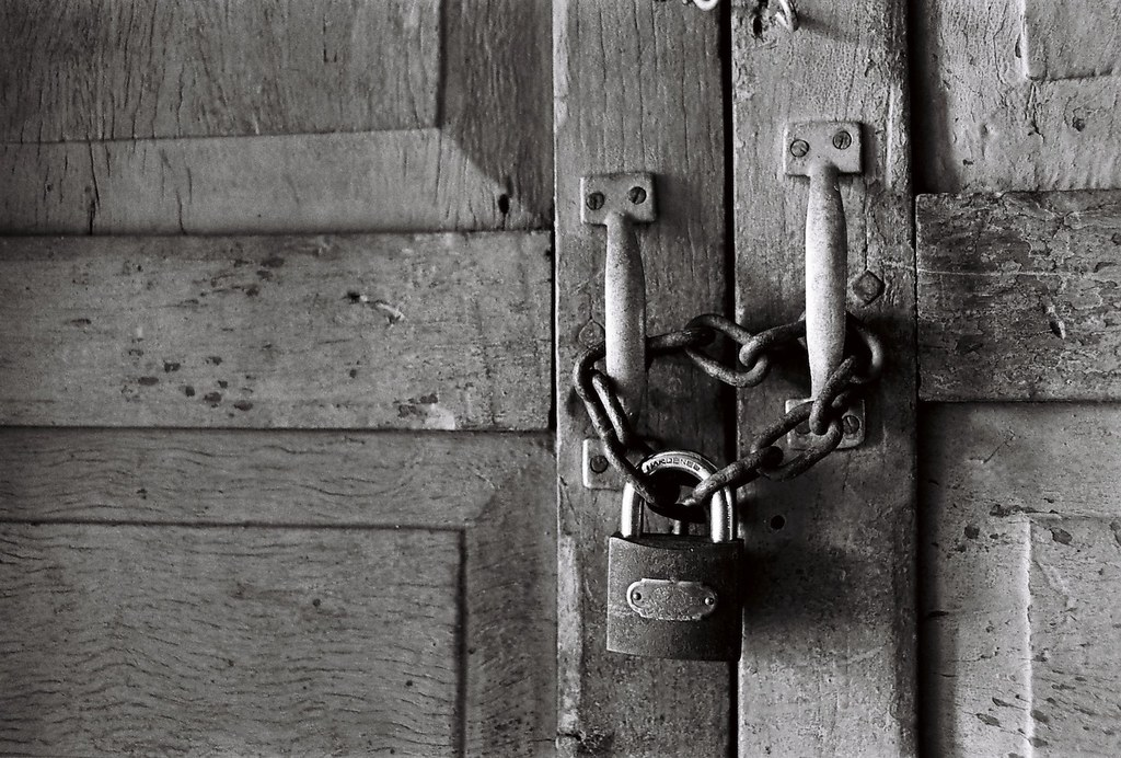 Padlocked Door | Found At Chnnoktrou Commune Office While I .. & Padlocked Door \u0026 Pad Locked Gate On A Door With Bars On - Stock Image Pezcame.Com