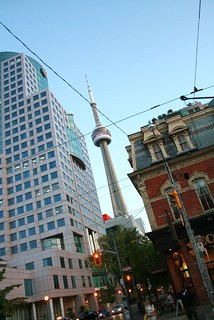 Landmark CN Tower viewed from Queen St W | by Ivy@PaperElixir