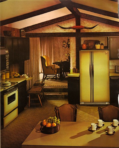 Kitchen Room Interiors Photos: 1970s Architectural Digest Kitchen