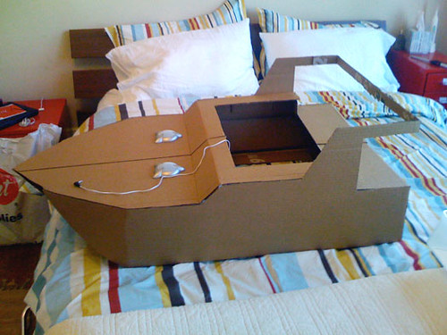 Nearly Completed Cardboard Boat Build | All I needed to add … | Flickr