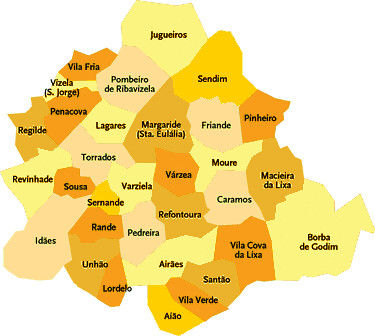 mapa felgueiras portugal Concelho de Felgueiras   Portugal | Mapa das freguesias | Jorge  mapa felgueiras portugal