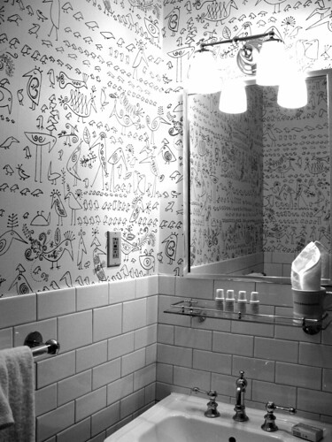 Whimsical Wallpaper The Fun Bathroom At The Soho Grand Interiors Inside Ideas Interiors design about Everything [magnanprojects.com]