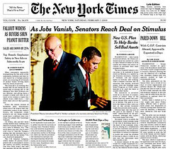 Feb 7 NYT Front Page: Stimulus Bill Compromise Story | by MyEyeSees
