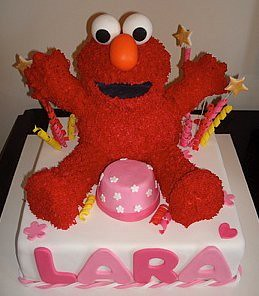 Elmo Cake Voila My masterpiece I spent a month researchi Flickr