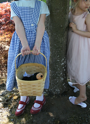 dorothy and glinda and toto (a bear) | by angry chicken