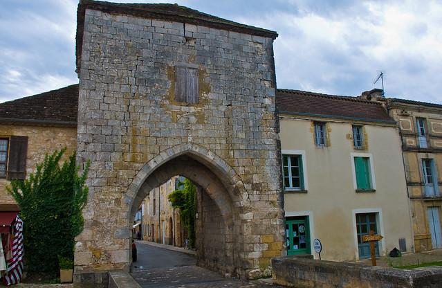 Gate to Monpazier (13th. Century), Lot-et-Garonne, France, 18th. Sept. 2008