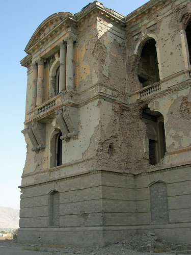 Darulaman palace, Kabul Afghanistan, a little rocket weary | by Carl Montgomery
