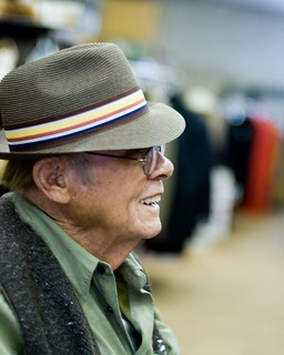 grandpa, trying on hats | by jen_maiser
