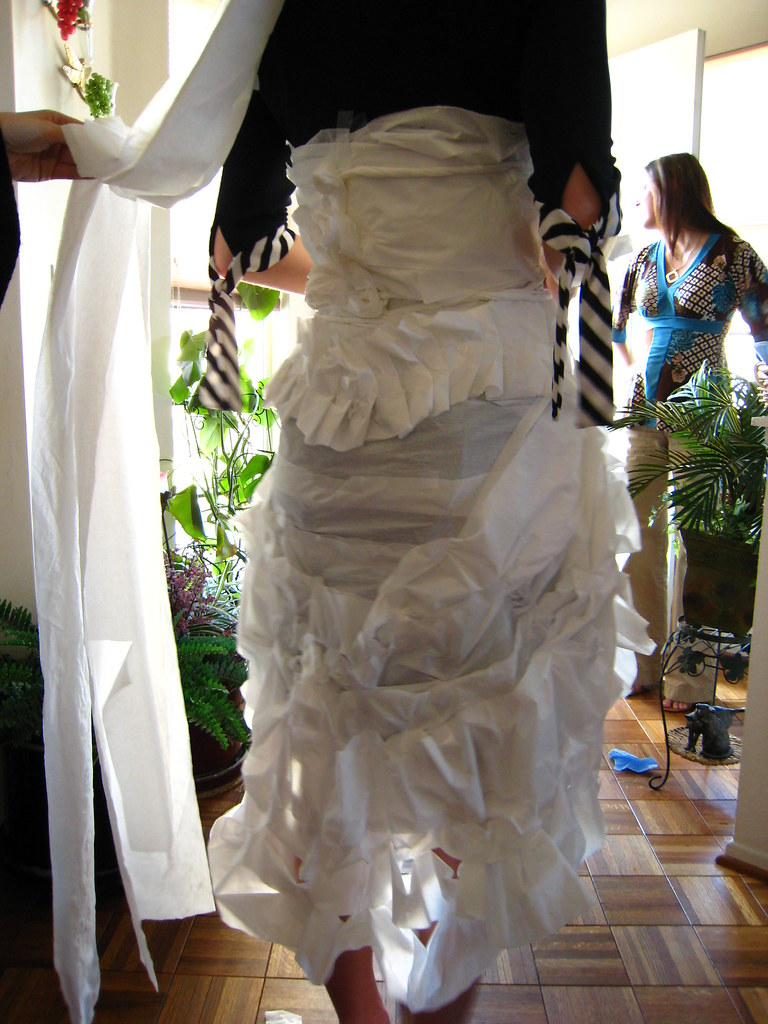 Back Of Tissue Paper Wedding Dress These Pics Are Actually Flickr