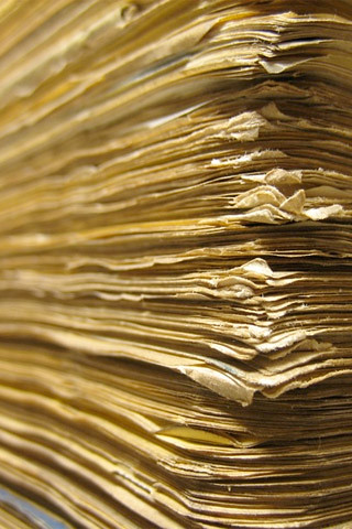 Stack of engineering papers | by users_lib