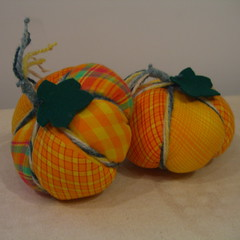 Patchwork Pumpkin Tutorial | by www.rachaelrabbit.blogspot.com