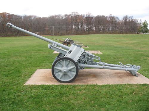German 50 Mm Anti Tank Gun: Side View Of A German PaK 38 5cm Anti-tank Gun