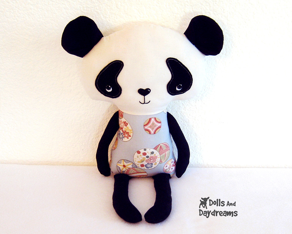 Panda kawaii cute softie toy sewing pattern 1 | Dolls And Da… | Flickr