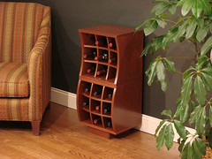 Wave End Table | by VigilantWineCellars