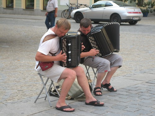 Accordion players in Wrocław Rynek | by Sunshine C.