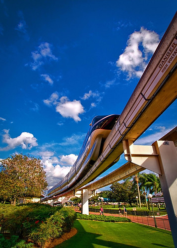 Disney - Monorail Black Outside the Magic Kingdom | by Express Monorail