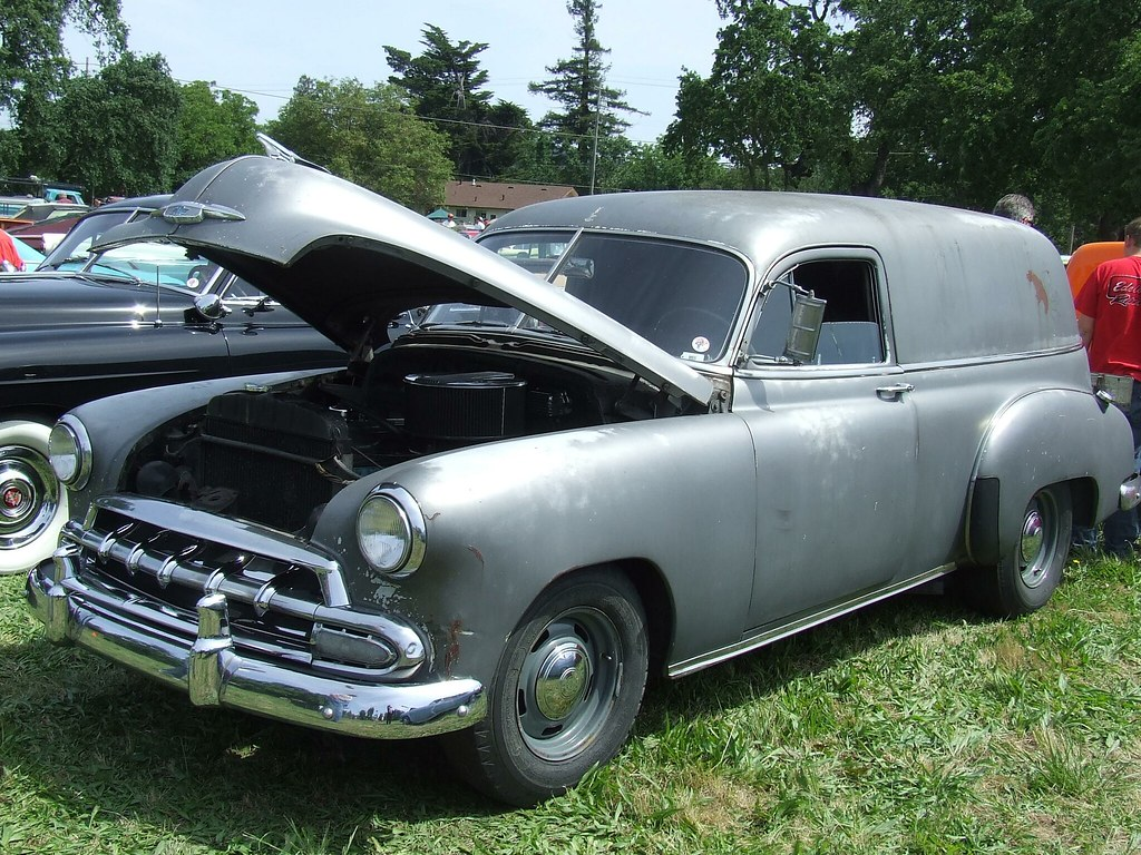 1951 Chevrolet Panel Delivery With A 1952 Gril Custom 5 Flickr Sedan 5e52049 1