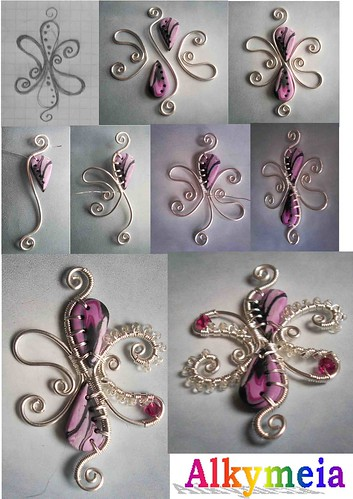 Tutorial Wire Work and Polymer Clay | by Alkhymeia