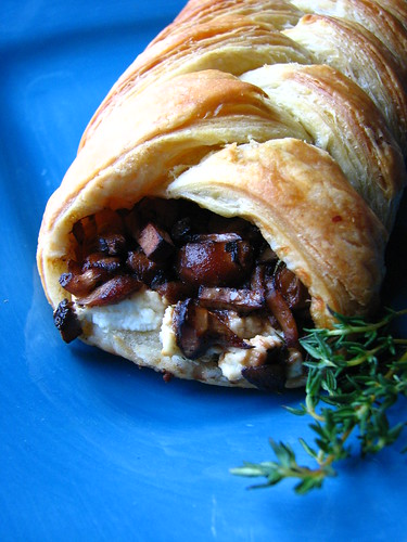 Wild Mushroom and Goat Cheese Puff Pastry Braid | by britton618
