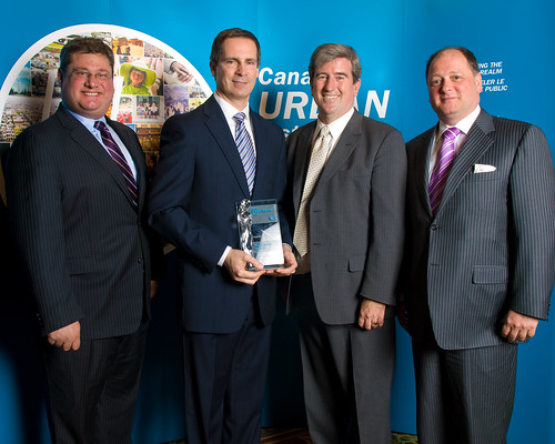 Ontario Premier, Dalton McGuinty, accepts City Initiatives award on behalf of the Province | by Canadian Urban Institute