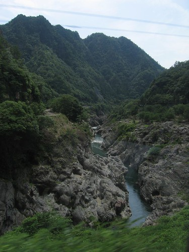 river gorge, somewhere south of takayama | by Doctor Memory