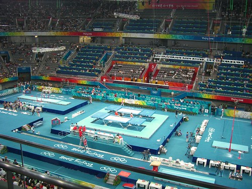 Gymnastics Venue with Trampolines | by mr_tentacle