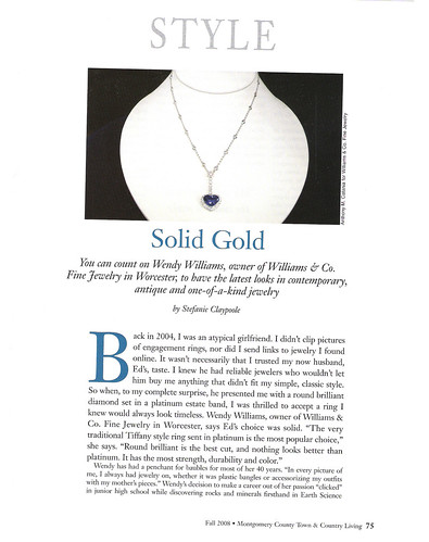 I'm PUBLISHED again!  Montgomery County Town & Country Living Fall 2008 Williams pg1 001 | by jumajewelry