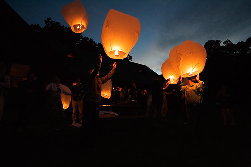 Launching lanterns | by skyenocturnus