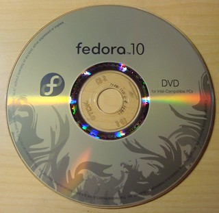 Fedora 10 Lightscribe Label | by momomomo