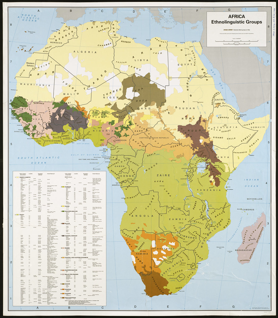 Africa ethnolinguistic groups Zoom into this map at maps Flickr