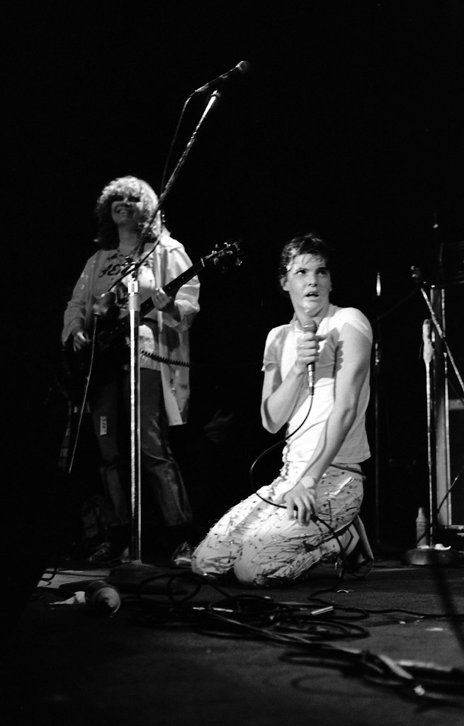 Darby Crash And Lorna Doom Perform 1977 By P Dographer