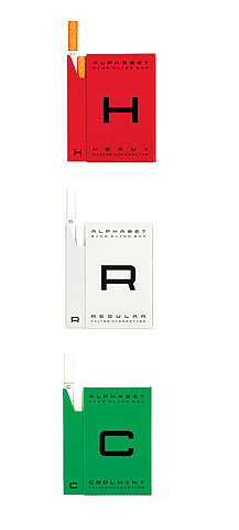 Alphabet Cigarette Packaging | by DesignBliss-Flickr