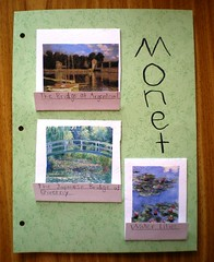 Monet notebooking page front | by jimmiehomeschoolmom