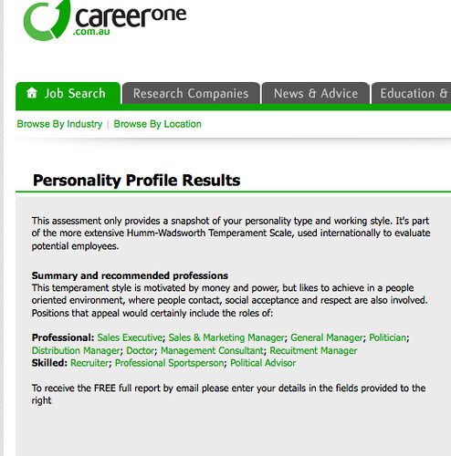 Your Free Career Test: Jobs To Match Your Persoanlity