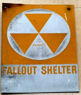 Nuclear Fallout Shelter sign, New York City, New York, Uni ...