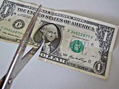 $1 bill Cut by Scissors | by Images_of_Money