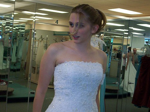 Betsy Bennett Trying On Wedding Dresses | by weddingssc2