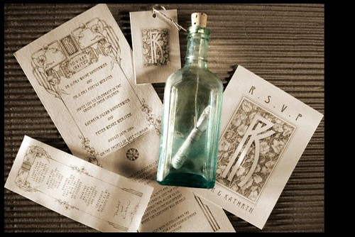 Beach wedding invite concept message in a bottle Flickr