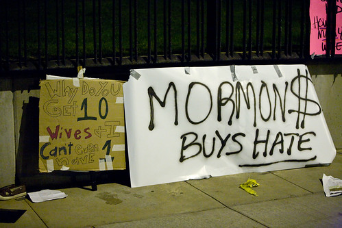 Prop 8 Protest outside Mormon Temple | by evanjacobs1