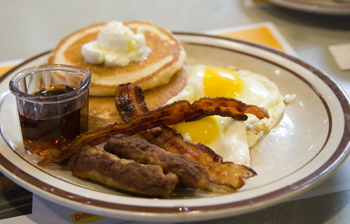 Denny's is offering its guests a free Grand Slam breakfast through the end of January — but only if they start using the chain's online-ordering platform.